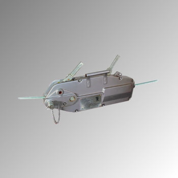 Seilzug mit Standardseil - Tragkraft 800 kg - 240 x 60 x 430 mm (HxBxT) - aus hochfestem Aluminium