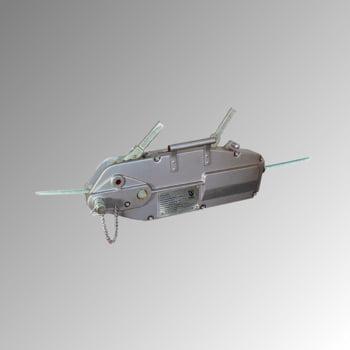 Seilzug mit Standardseil - Tragkraft 3.200 kg - 330 x 110 x 680 mm (HxBxT) - aus hochfestem Aluminium