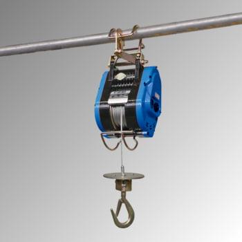 Elektrobauseilzug - Tragkraft 230 kg - Hub 24 m - Seilgeschwindigkeiten 9 / 14 m/min