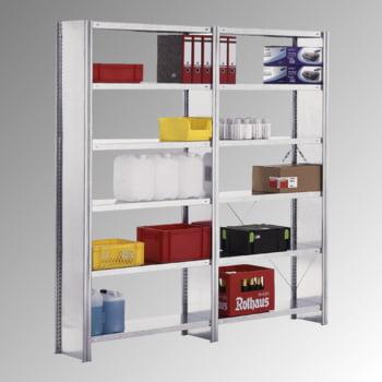 Fachbodenregal m. Seitenwand - 150 kg - (HxBxT) 2.500 x 875 x 600 mm - Steckregal - Anbauregal online kaufen - Verwendung 3