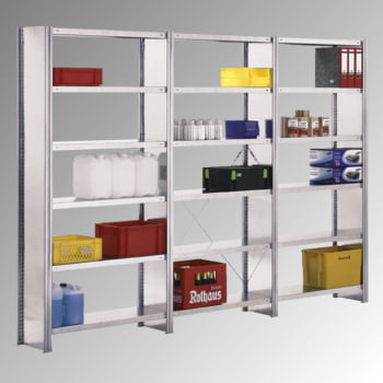 Fachbodenregal m. Seitenwand - 150 kg - (HxBxT) 2.500 x 875 x 600 mm - Steckregal - Anbauregal online kaufen - Verwendung 4