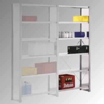 Fachbodenregal m. Seitenwand - 150 kg - (HxBxT) 2.500 x 875 x 600 mm - Steckregal - Anbauregal online kaufen - Verwendung 0