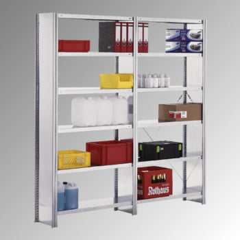 Fachbodenregal m. Seitenwand - 150 kg - (HxBxT) 3.000 x 1.005 x 600 mm - Steckregal - Grundregal online kaufen - Verwendung 3