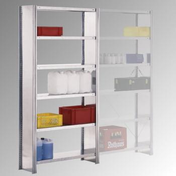 Fachbodenregal m. Seitenwand - 250 kg - (HxBxT) 2.500 x 1.285 x 500 mm - Steckregal - Anbauregal online kaufen - Verwendung 2