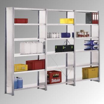 Fachbodenregal m. Seitenwand - 250 kg - (HxBxT) 2.500 x 1.285 x 500 mm - Steckregal - Anbauregal online kaufen - Verwendung 4
