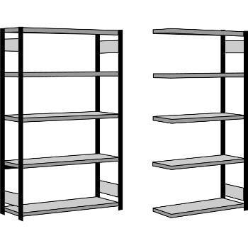 Fachbodenregal m. Seitenwand - 250 kg - (HxBxT) 2.500 x 1.285 x 500 mm - Steckregal - Anbauregal online kaufen - Verwendung 7