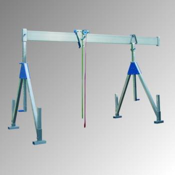 Schnellbau Portalkran - Aluminium - Tragkraft 1.500 kg - Höhe 3.375 mm - stationäre Ausführung - klappbar