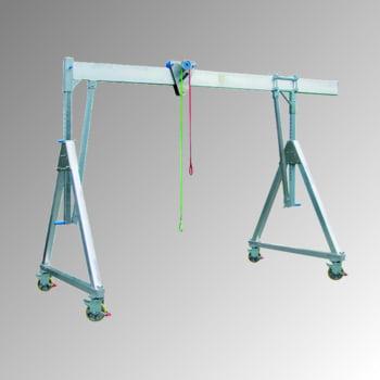 Schnellbau Portalkran - Aluminium - Tragkraft 1.000 kg - Höhe 3.385 mm - fahrbar - klappbar