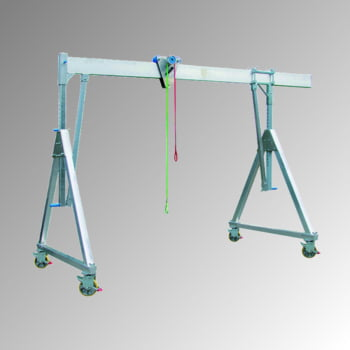 Schnellbau Portalkran - Aluminium - Tragkraft 1.500 kg - Höhe 4.165 mm - fahrbar - klappbar