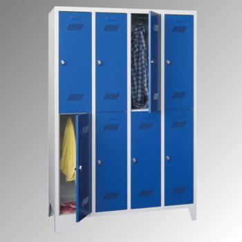 kleiderschrank 8 f cher a 300 mm mm f e zylinderschloss ebay. Black Bedroom Furniture Sets. Home Design Ideas