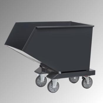 Muldenkippbehälter mit Staplertaschen - 450 l - 750 kg - anthrazitgrau