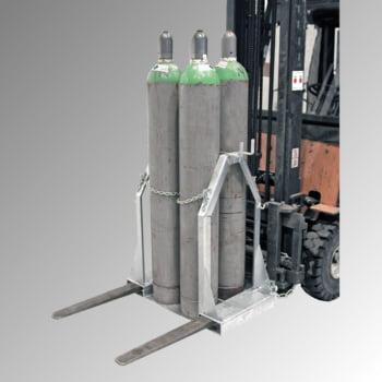 Gasflaschen-Palette - für 4 250-mm-Stahlflaschen - Traglast 350 kg - verzinkt