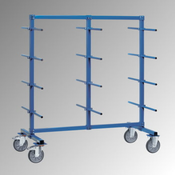 Fetra - Doppelseitiger Tragarmwagen - 10 Ebenen mit PVC - (HxBxT) 1.807 x 1.400 x 800 mm - Traglast 500 kg