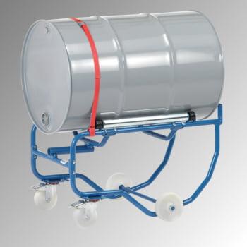 Fetra - Fasskipper für 200 l Fässer - Tragkraft 250 kg - fahrbar - Hebelstange - Stahlrollen