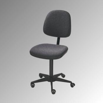 ESD Arbeitsstuhl - Bürostuhl - antistatisch - Sitzhöhe 450-580 mm - Polster anthrazit - große Rückenlehne - Stahl Fußkreuz mit Rollen