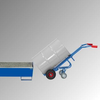 Fetra - Fasskarre für 200 l Fässer - 300 kg Traglast - 2 Stützräder - Vollgummibereifung online kaufen - Verwendung 2