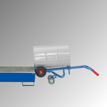 Fetra - Fasskarre für 200 l Fässer - 300 kg Traglast - 2 Stützräder - Vollgummibereifung online kaufen - Verwendung 3