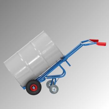 Fetra - Fasskarre für 200 l Fässer - 300 kg Traglast - 2 Stützräder - Luftbereifung