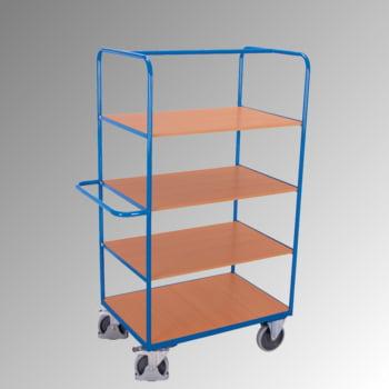 Etagenwagen - 4 Etagen - 3 klappbare Böden - 1.890 x 700 x 1.200 mm (HxBxT) - Traglast 500 kg