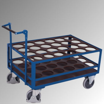 Flaschenwagen - Tragkraft 500 kg - für 24 Flaschen - 1.020 x 775 x 1.300 mm (HxBxT) - mit Totmannbremse