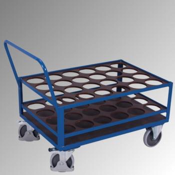 Flaschenwagen - Tragkraft 500 kg - für 24 Flaschen - 1.000 x 775 x 1.265 mm (HxBxT) - mit Feststeller
