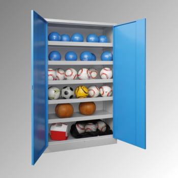 Ballschrank - Vollblechtüren - 5 Böden - 1.950x1.500x500 mm (HxBxT) - lichtgrau/lichtblau online kaufen - Verwendung 2