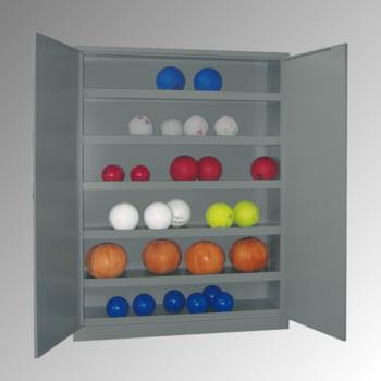 Ballschrank - Vollblechtüren - 5 Böden - 1.950x1.500x500 mm (HxBxT) - lichtgrau/lichtblau online kaufen - Verwendung 4