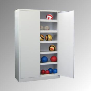 Ballschrank - Vollblechtüren - 5 Böden - 1.950x1.500x500 mm (HxBxT) - lichtgrau/lichtblau online kaufen - Verwendung 5
