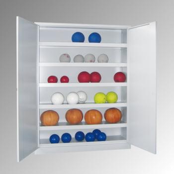 Ballschrank - Vollblechtüren - 5 Böden - 1.950x1.500x500 mm (HxBxT) - lichtgrau/lichtblau online kaufen - Verwendung 6