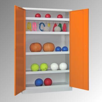 Ballschrank - Vollblechtüren - 5 Böden - 1.950x1.500x500 mm (HxBxT) - lichtgrau/lichtblau online kaufen - Verwendung 7
