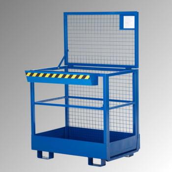 Arbeitsbühne für Stapler - Tragkraft 300 kg - 1.910 x 1.200 x 800 mm (HxBxT) - enzianblau