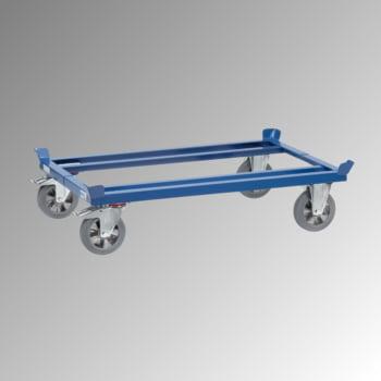Fetra Palettenfahrgestell - Tragkraft 1.200 kg - 329 x 855 x 1.255 mm (HxBxT) - Vollgummi Rollen