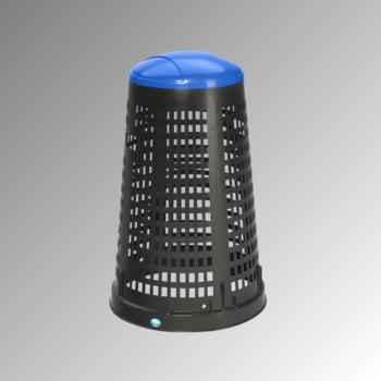 Korbständer für Müllsäcke - Volumen 90 l - 880 x 525 mm (HxD) - Korpus schwarz - Deckel blau