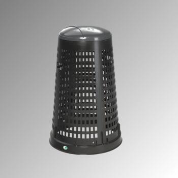 Korbständer für Müllsäcke - Volumen 90 l - 880 x 525 mm (HxD) - Korpus schwarz - Deckel grau