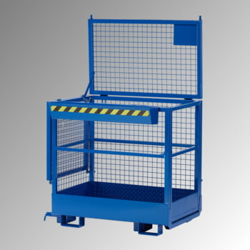 Arbeitsbühne - 2-seitige Aufnahme - Traglast 300 kg - 1.950 x 1.200 x 800 mm (HxBxT) - enzianblau
