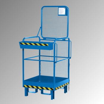 Arbeitsbühne - Stützfüße - Traglast 120 kg - 2.020 x 800 x 800 mm (HxBxT) - enzianblau