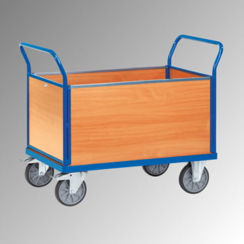 Fetra - Vierwandwagen - 600 kg Traglast - 990 x 709 x 1.180 mm (HxBxT) - Holzwände
