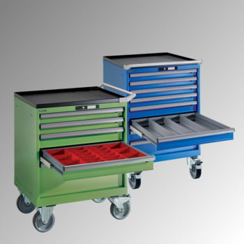 Lista Schubladenschrank - fahrbar - - 14.247.010 - 890 x 564 x 572 mm (HxBxT) - 6 Schubladen - 75 kg - Key Lock - lichtblau (RAL 5012) online kaufen - Verwendung 2