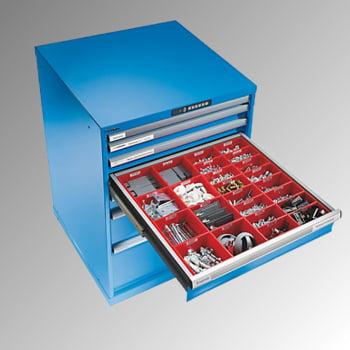 Lista Schubladenschrank - fahrbar - - 14.247.010 - 890 x 564 x 572 mm (HxBxT) - 6 Schubladen - 75 kg - Key Lock - lichtblau (RAL 5012) online kaufen - Verwendung 5