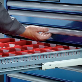 Lista Schubladenschrank - fahrbar - - 14.247.010 - 890 x 564 x 572 mm (HxBxT) - 6 Schubladen - 75 kg - Key Lock - lichtblau (RAL 5012) online kaufen - Verwendung 6