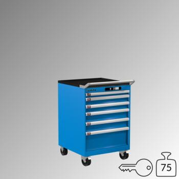 Lista Schubladenschrank - fahrbar - - 14.247.010 - 890 x 564 x 572 mm (HxBxT) - 6 Schubladen - 75 kg - Key Lock - lichtblau (RAL 5012) online kaufen - Verwendung 0