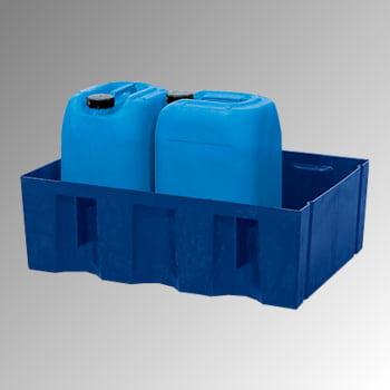 Auffangwanne aus Kunststoff - 60 l - Gitterrost, PE - 235 x 725 x 525 mm (HxBxT)