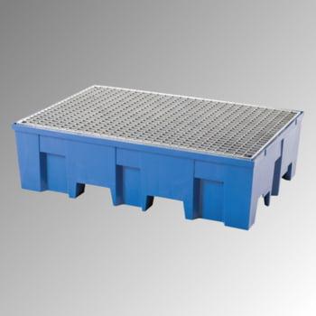 PE-Auffangwanne - 2 x 200 l - 220 l - 760 kg - 350 x 865 x 1.245 mm (HxBxT) - Gitterrost