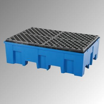 PE-Auffangwanne - 2 x 200 l - 220 l - 760 kg - 350 x 865 x 1.245 mm (HxBxT) - PE-Gitterrost