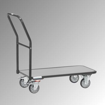 Fetra Schiebebügelwagen - Tragkraft 250 kg - Ladefläche 450 x 850 mm (BxT) - anthrazitgrau