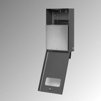 Hundetoilette - Beutelspender - Wand- oder Pfostenbefestigung - 430 x 265 x 148 mm (HxBxT) - Eisenglimmer online kaufen - Verwendung 2