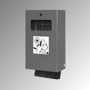 Hundetoilette - Beutelspender - Wand- oder Pfostenbefestigung - 430 x 265 x 148 mm (HxBxT) - Eisenglimmer online kaufen - Verwendung 0