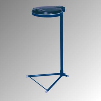Müllsackständer - für einen 120 l Sack - 980 x 500 x 530 mm (HxBxT) - enzianblau - Deckel Kunststoff, schwarz