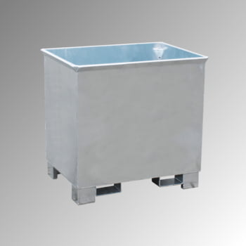 Container - 3-fach stapelbar - Volumen 300 l - Traglast 500 kg - 800 x 840 x 620 mm (HxBxT) - verzinkt
