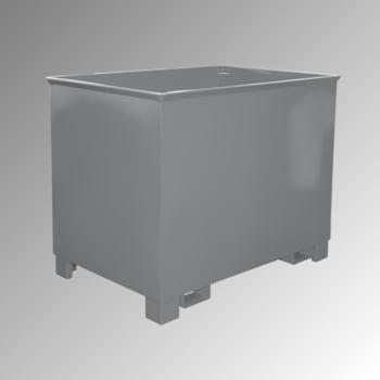 Container - 3-fach stapelbar - Volumen 800 l - Traglast 1.000 kg - 975 x 1.240 x 840 mm (HxBxT) - mausgrau